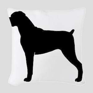boxerbizblk Woven Throw Pillow