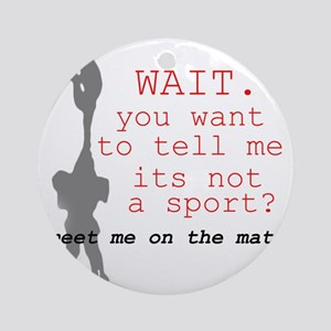 Meet Me on the Mat Round Ornament