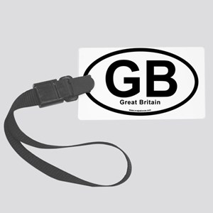 GB - Great Britain oval Large Luggage Tag
