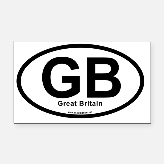 GB - Great Britain oval Rectangle Car Magnet
