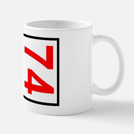 74 Autocross Number Plates Mug