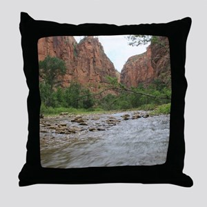 Zion Riverwalk Throw Pillow
