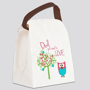 Owl You Need is Love Canvas Lunch Bag
