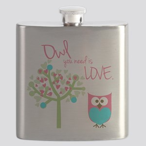 Owl You Need is Love Flask