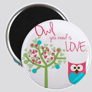 Owl You Need is Love Magnet