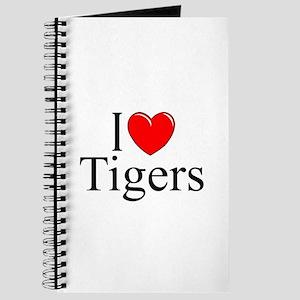 """I Love (Heart) Tigers"" Journal"
