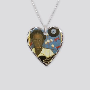 Robert Johnson Hell Hound On  Necklace Heart Charm