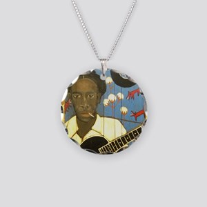 Robert Johnson Hell Hound On Necklace Circle Charm