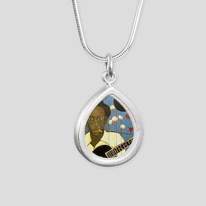Robert Johnson Hell Houn Silver Teardrop Necklace
