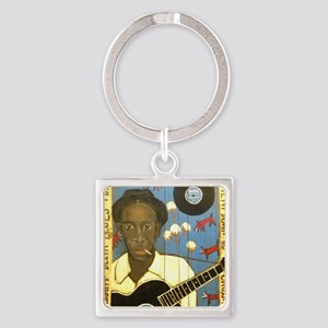 Robert Johnson Hell Hound On My Tr Square Keychain