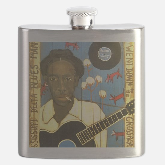 Robert Johnson Hell Hound On My Trail Flask