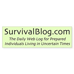 The Original SurvivalBlog Tactical Bumper Bumper Sticker