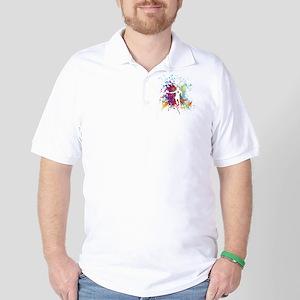 Color Splash Tennis Tshirt Golf Shirt