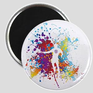 Color Splash Tennis Tshirt Magnet