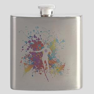 Color Splash Tennis Tshirt Flask
