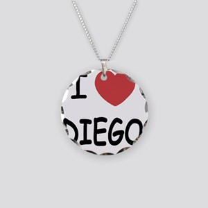 I heart DIEGO Necklace Circle Charm