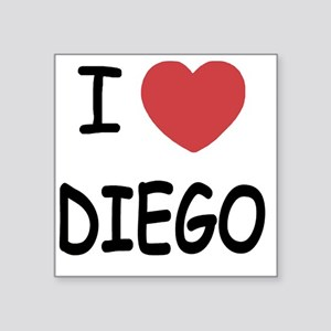 "I heart DIEGO Square Sticker 3"" x 3"""