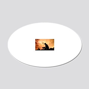 Painting the Sky 20x12 Oval Wall Decal