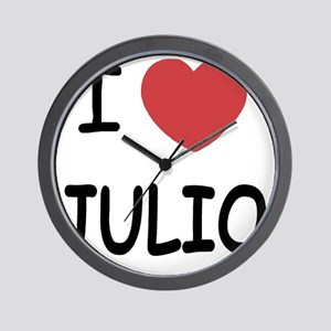 I heart JULIO Wall Clock