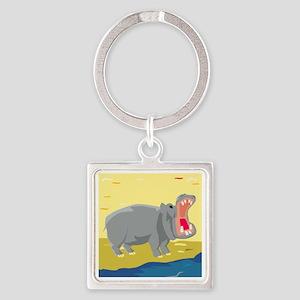 00018_Hippo20 Square Keychain