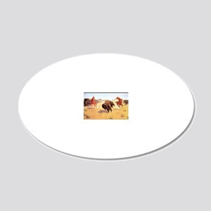 Best Seller Wild West 20x12 Oval Wall Decal