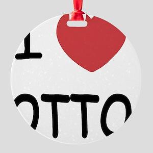 I heart OTTO Round Ornament