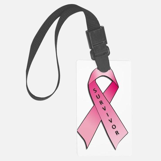 Survivor Pink Ribbon Luggage Tag