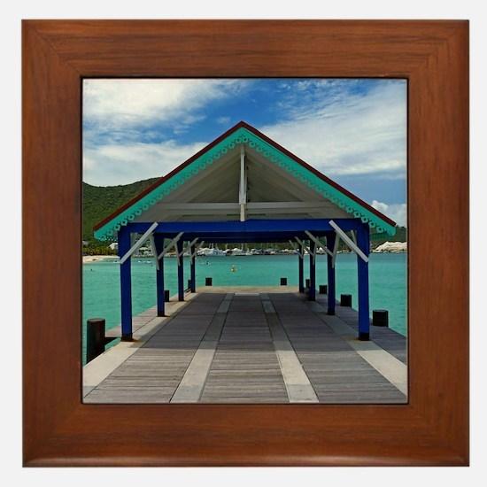 St. Maarten Pier Framed Tile