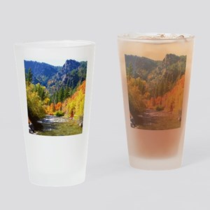 Wood camp Drinking Glass