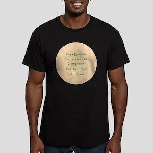 Button Lg Men's Fitted T-Shirt (dark)