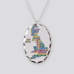 Funny, silly, and strange plac Necklace Oval Charm