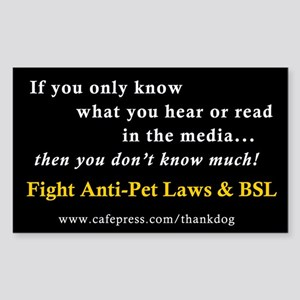 Fight Anti-Pet & BSL Rectangle Sticker