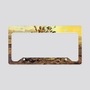 Approach of the White Men, 18 License Plate Holder