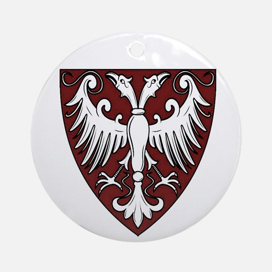 Old Serbian coat of arms Round Ornament