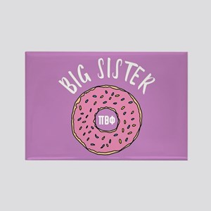 Pi Beta Phi Big Sister Donut Rectangle Magnet