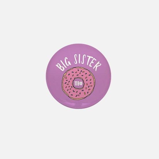 Pi Beta Phi Big Sister Donut Mini Button