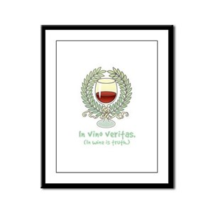 Wine Is Truth Framed Panel Print