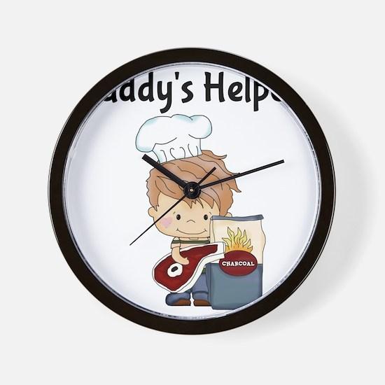 Daddys Helper BBQ Wall Clock