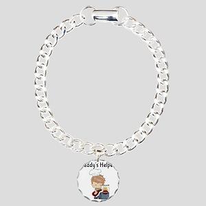 Daddys Helper BBQ Charm Bracelet, One Charm