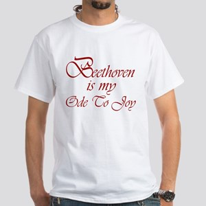 Beethoven Ode To Joy White T-Shirt