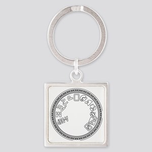 Mode Dial (white) Square Keychain