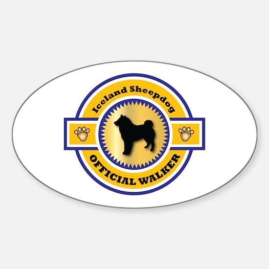 Sheepdog Walker Oval Decal