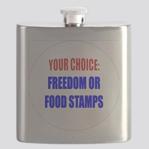 Freedom or Food Stamps Flask