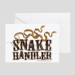 Snake Handler Greeting Card