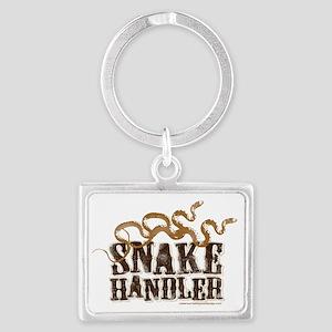 Snake Handler Landscape Keychain