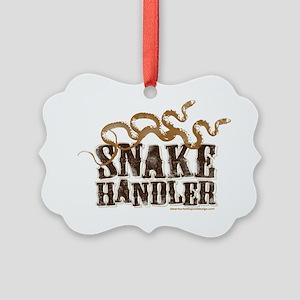Snake Handler Picture Ornament