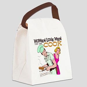 Women Love Men BBQ Canvas Lunch Bag
