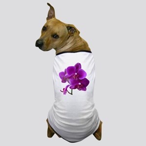 Striking Purple Orchid Flower Dog T-Shirt