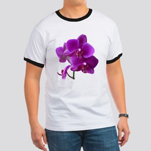 Striking Purple Orchid Flower Ringer T