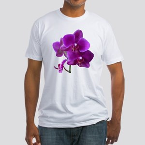 Striking Purple Orchid Flower Fitted T-Shirt
